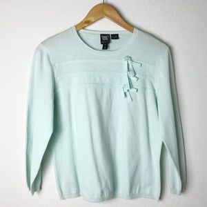 W by Worth Mint Green Crewneck Sweater